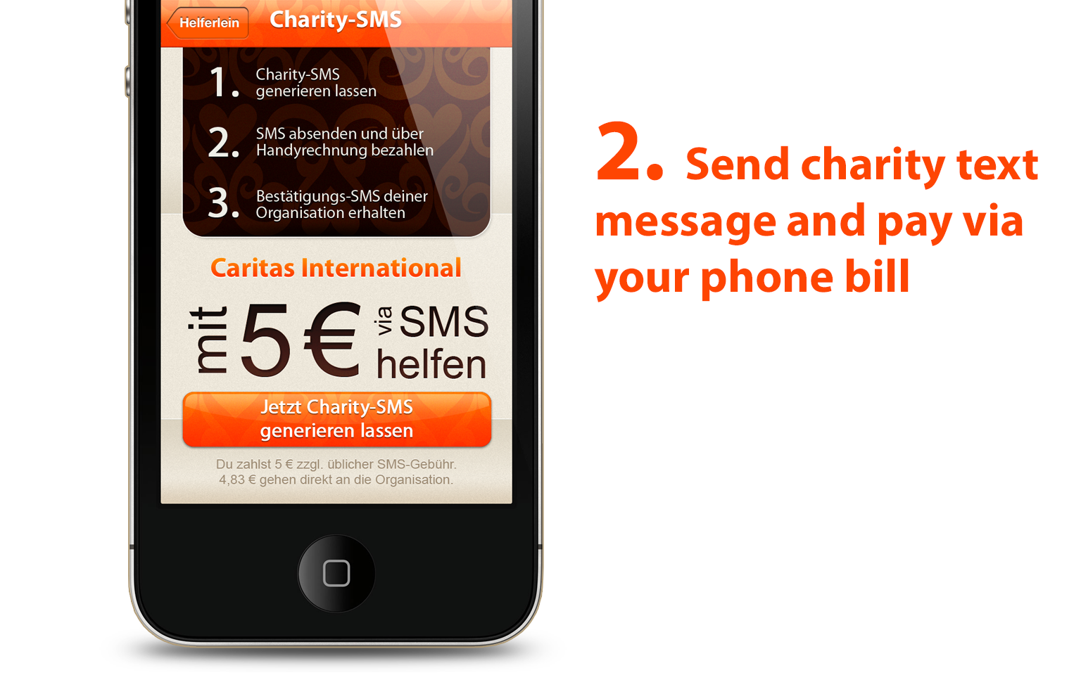 Helferlein charity iPhone app - slide 3